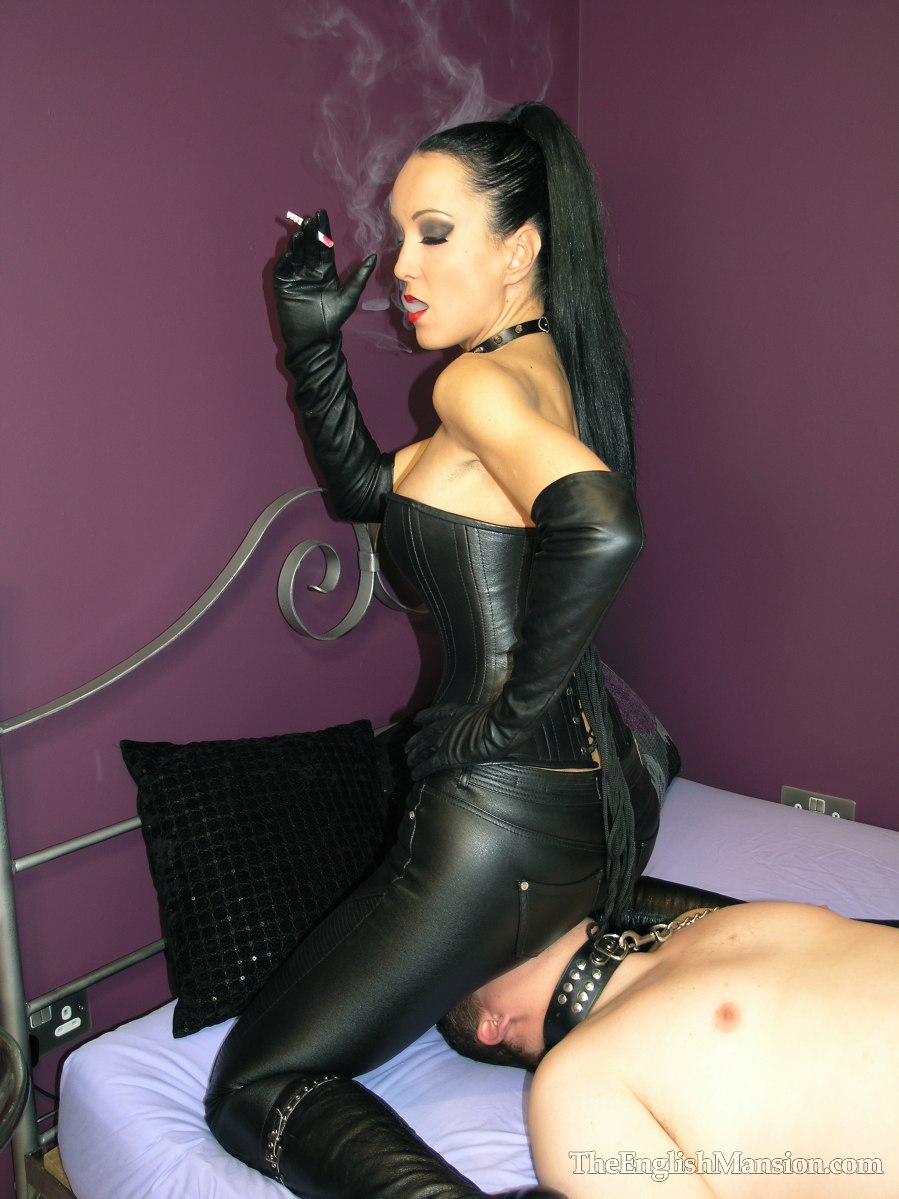 boot Leather worship mistress