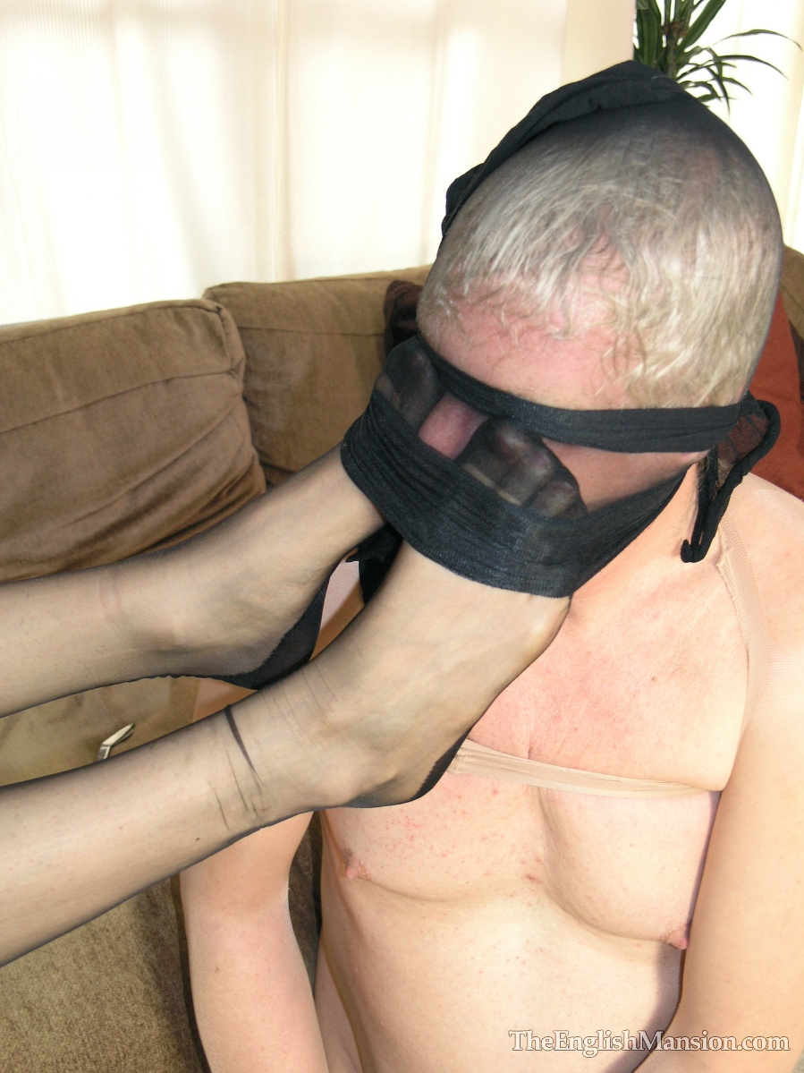 Mistress has her feet smelled and licked by her slave 10